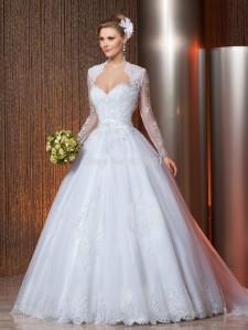 vestido de noiva inverno